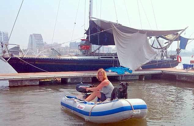 The 41-year-old had been at sea for 13 months sailing from Cochin, India to Phuket, Thailand with her husband Marc Horn, 50, and their pet dog