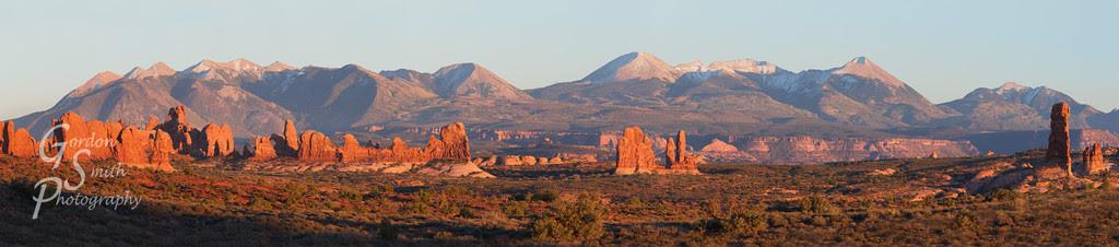 Utah arches national park sunset