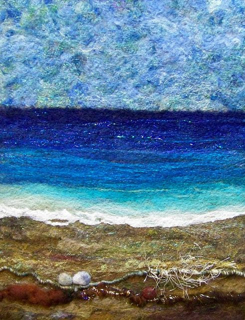 love this beach - Deebs Fibre Arts