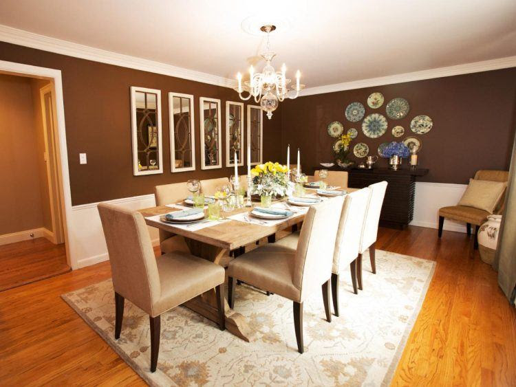 10 Beautiful Dining Rooms with Brown Walls