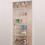 Portsmouth Home 5-Foot Over The Door Storage Rack, White