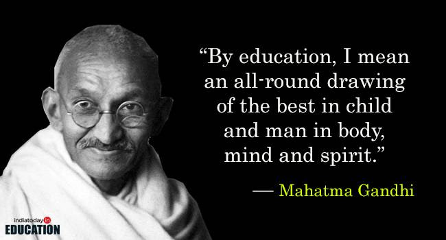 Top 10 Views Of Mahatma Gandhi On Education Views Of Mahatma Gandhi