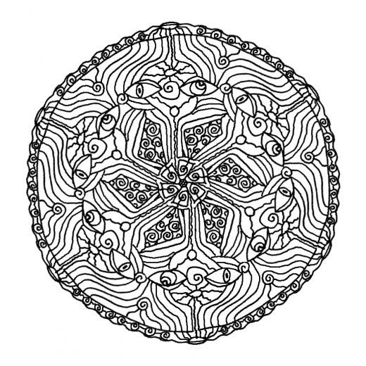 Coloriage Mandala Difficile Imprimer Gratuit Ancenscp