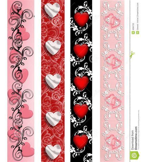Valentine Borders set stock illustration. Illustration of