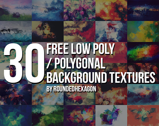 30 Free Polygonal Low Poly Background Textures by RoundedHexagon on deviantART