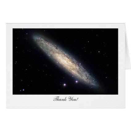 Spiral Galaxy NGC253 - Saying Thank You Greeting Card