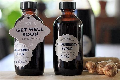 Get Well Soon Gift: Elderberry Syrup   Party Inspiration