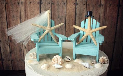 Ivory Bride Adirondack Chair wedding Cake Topper miniature