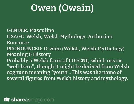 75 WELSH MEANING OF NAME OWEN, MEANING OF WELSH OWEN NAME ...