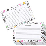 Juvale Recipe Cards - 60-Pack Double-Sided Kitchen Recipe Note Cards with Floral Designs, 4 x 6 Inches