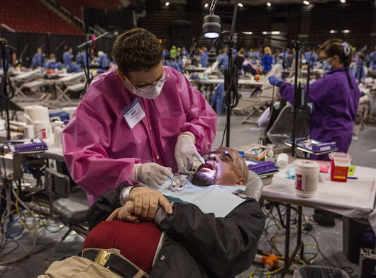 Huge, free health clinic running again this week at Seattle Center