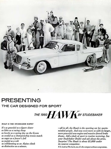 Hawk by Studebaker Advertisement - Ebony Magazine, May, 1960 by vieilles_annonces