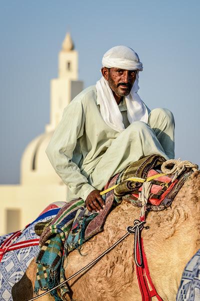 Camel driver portraits, Dubai