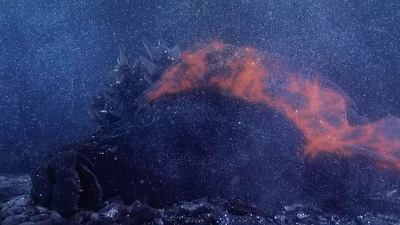Rodan gives Godzilla his power up