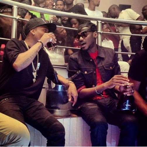 Star Boy Wizkid In Drinking Competition With 2Baba [See Photo]