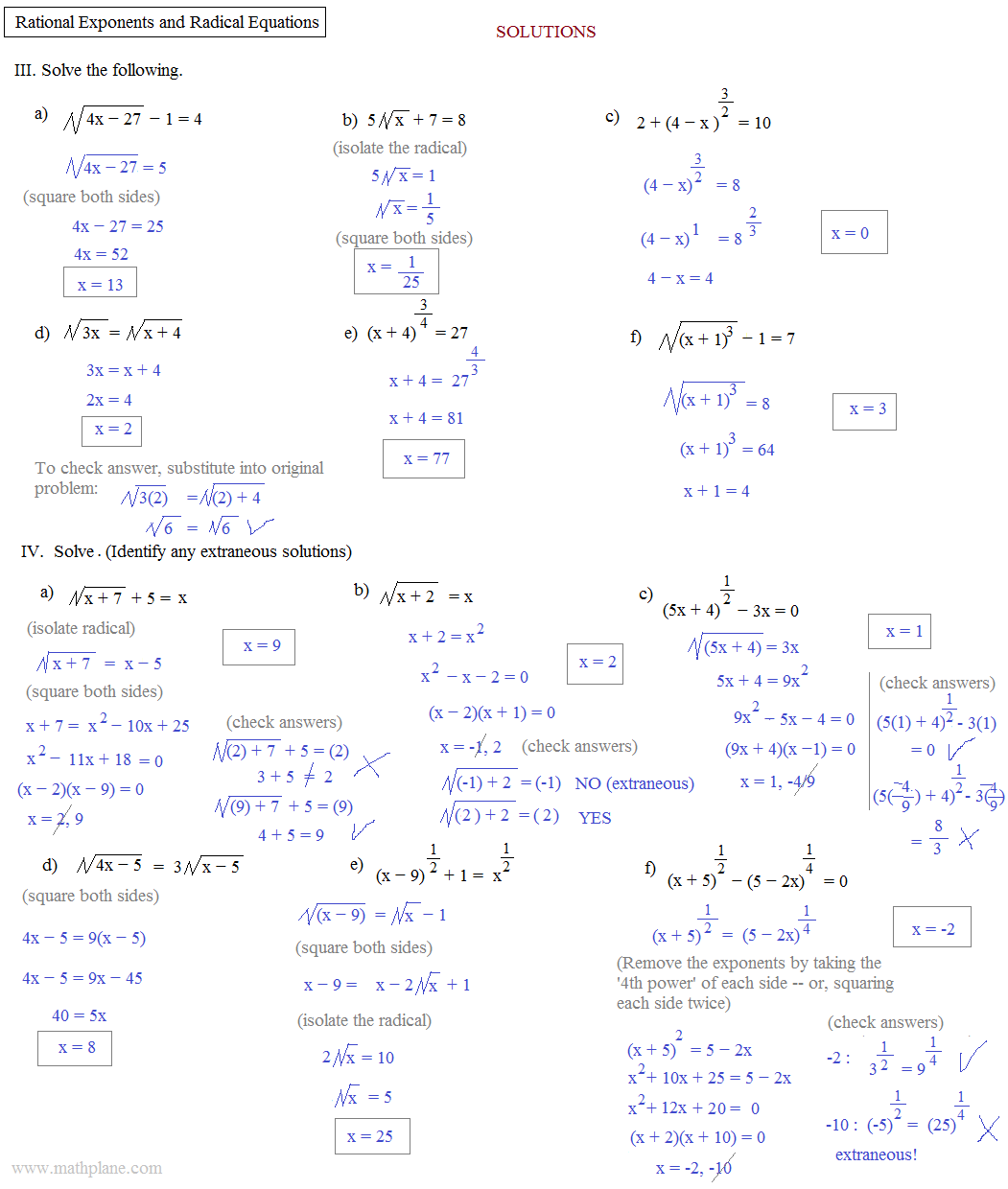 - 33 Radical Expressions And Rational Exponents Worksheet Answers