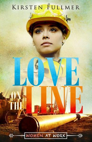Book Cover for women's fiction / romance novel Love on the Line by Kirsten Fullmer.