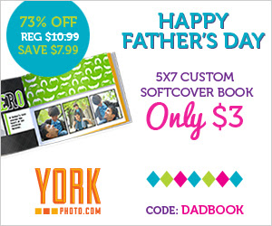 Happy Father's Day - 5X7 Custom Softcover Photo Book - Only $3 - Save $7.99!