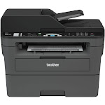 Brother - MFC-L2710DW Wireless Black-and-White All-in-One Laser Printer - Black