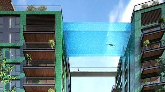 Swimming pool 'bridge' to link London towers - BBC News