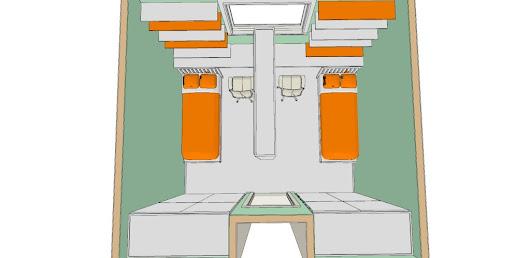 Una soluzione per dividere una cameretta in due parti uguali per creare maggi - Dividere una camera in due ...