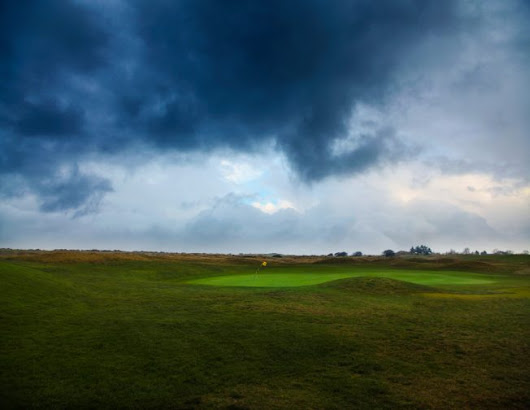 A wet and Windy day at Hunstanton Golf Course in Norfolk
