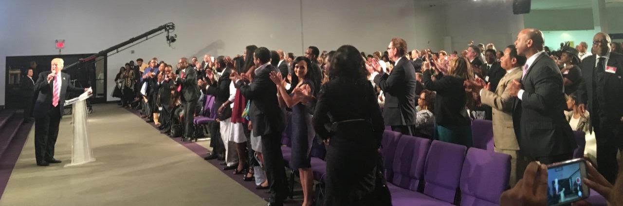 Trump earns standing ovation