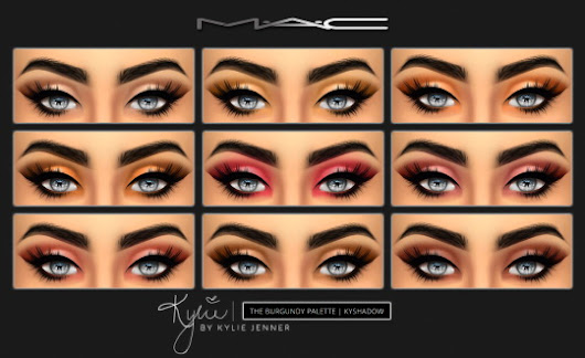 "MAC cosimetics: KYSHADOW ""The Burgundy Palette"" • Sims 4 Downloads"