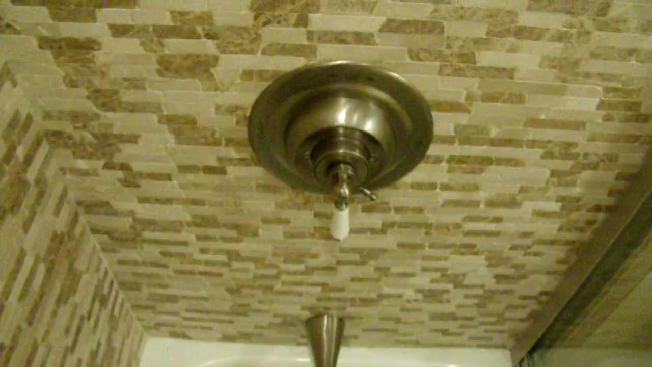 Peel & Stick Adhesive Tile over Tile Bathroom, NOW ...