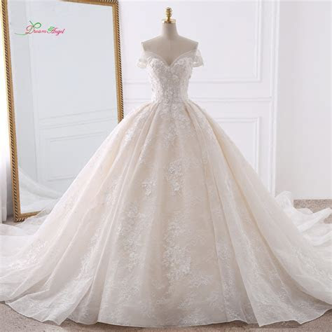Dream Angel Sexy Sweetheart Lace Ball Gown Wedding Dresses