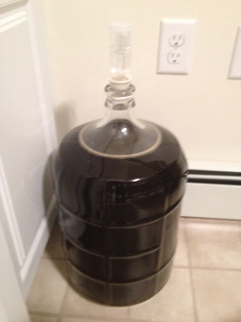 This carboy is full of beer, the way it should be!