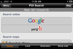 Magellan RoadMate for iPhone updates with Yelp, Google search | The Car Tech blog - CNET Reviews