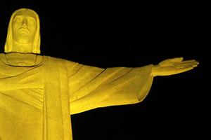 Cristo Redentor no Maio Amarelo