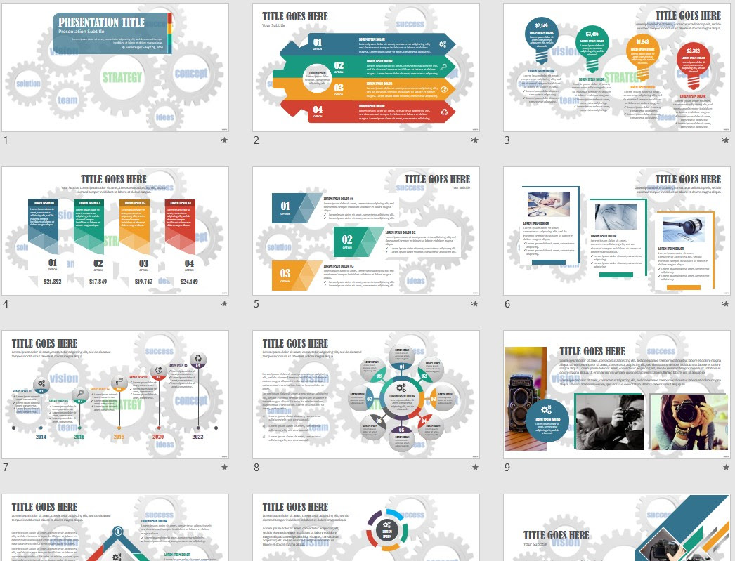 Strategy And Business Powerpoint Template 169350