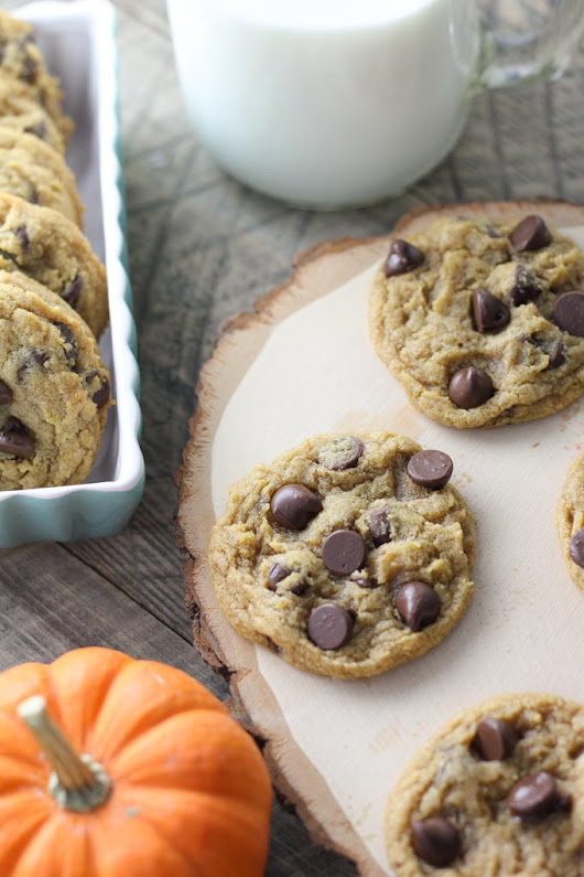 Chewy Pumpkin Chocolate Chip Cookies - Baked in AZ