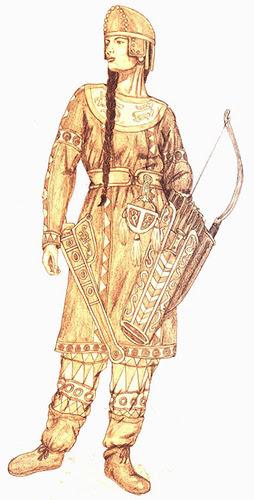Реконструкция внешности сарматской девушки - амазонки.