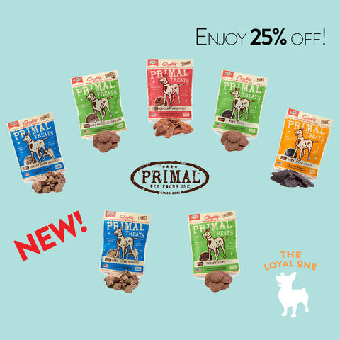 25% off Primal dog treats - The Loyal One - Best Online Pet Shop In Singapore