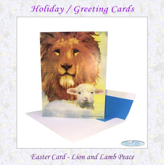 Easter Cards Lion and Lamb Peace Box Set