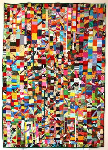 """""""Confetti"""" A true scrap quilt"""