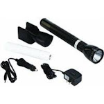 Mag Instrument RL1019 Led Rechargeable Flashlight System With 120v Converter & 12v Dc Auto Adapter, Black