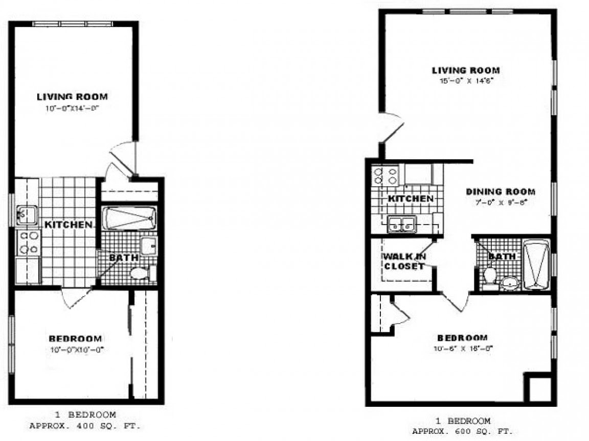 One Bedroom Apartment Floor Plan Apartments for Rent, 1 ...