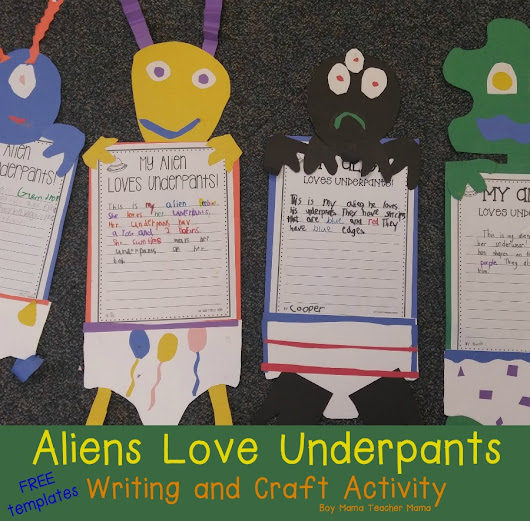 Alien's Love Underpants Craft and Writing Activity with FREE Templates