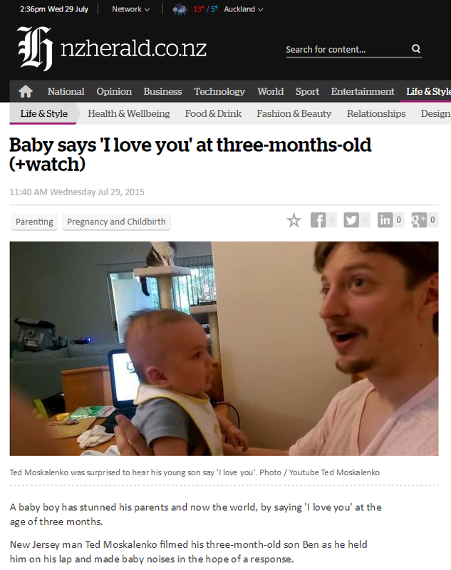 Media Mentions Ben Says I Love You