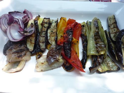 grilled vegetables farmers market