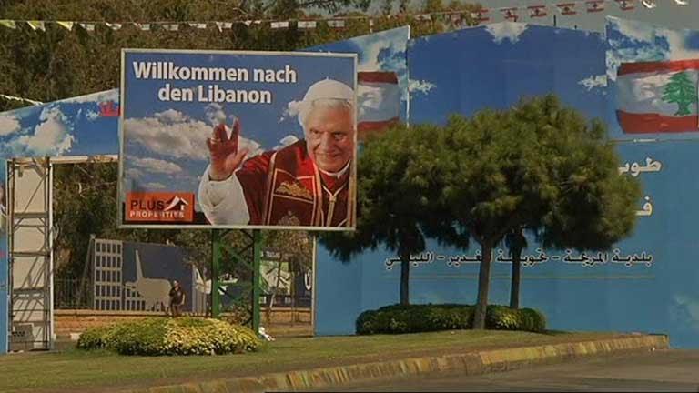 Benedicto XVI inicia mañana una visita de tres días a Líbano