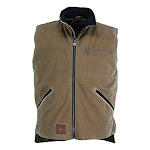 Outback Trading Men's Sawbuck Cotton Waterproof Oilskin Lined Vest - Field Tan