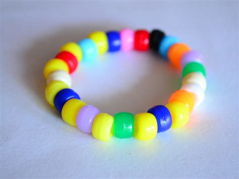 pony bead bracelet  steps  pictures