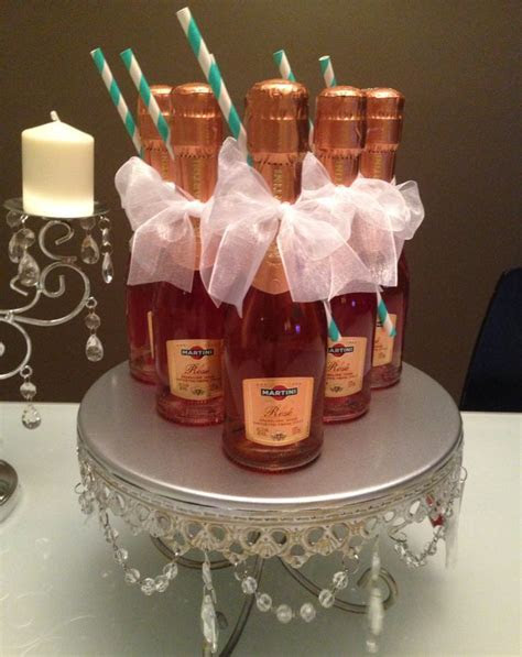 Mini Rose Champagne party favors   Juliana Dez Events