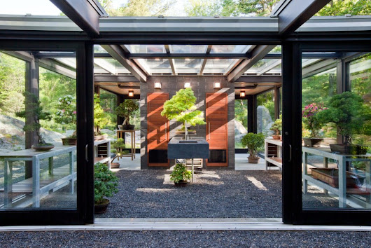 Skylight Case Study: Glass House in the Garden, Pinnacle 350 Lean-To