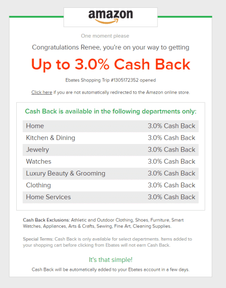 23 May Want Cash back on your purchases? Join Ebates.com!